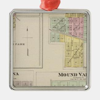 Merriam, Altamont, Montana, Mound Valley, Kansas Silver-Colored Square Decoration