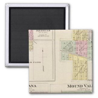 Merriam, Altamont, Montana, Mound Valley, Kansas Square Magnet