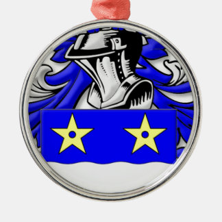 Merriam Coat of Arms Silver-Colored Round Decoration