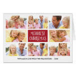 Merriest Christmas   Photo Collage Folded Holiday Greeting Card