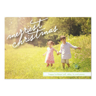 Merriest Christmas Script with Back Photo Card