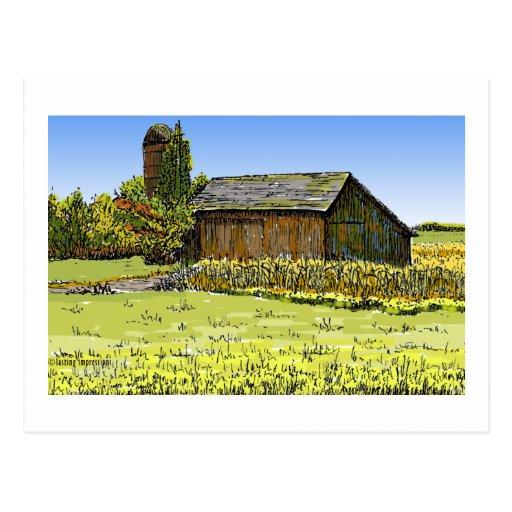Merrillville Barn Postcard