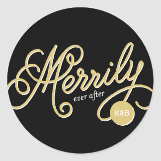 Merrily Ever After First Christmas Holiday Sticker