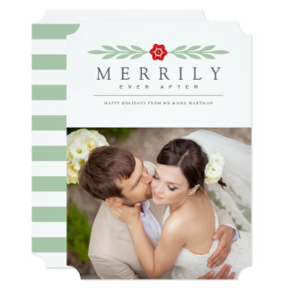 Married & Merry Christmas cards