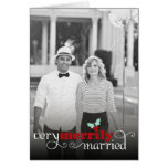 Merrily Married First Christmas Holiday Greetings