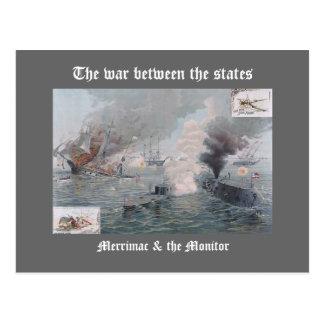 Merrimac & the Monitor Postcard
