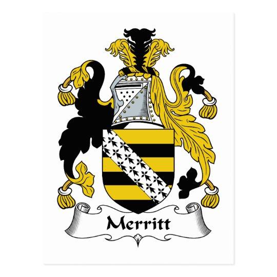 Merritt Family Crest Postcard