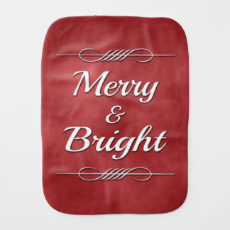 Merry and Bright Baby Burp Cloth
