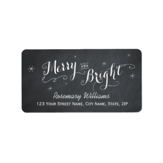 Merry and Bright - Chalkboard Address Labels