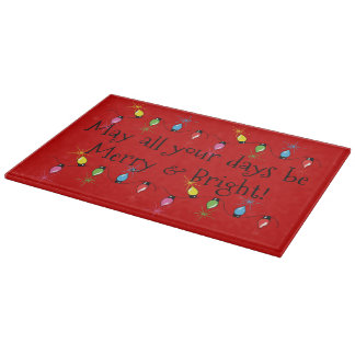 Merry and Bright Christmas Cutting Board