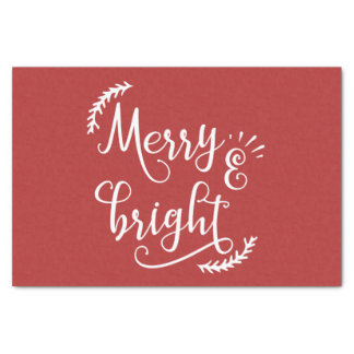 merry and bright Christmas Holiday Tissue Paper