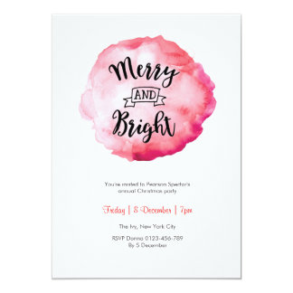 Merry and Bright Christmas party Invitation