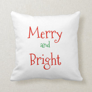 Merry and Bright - Christmas pillow home decor