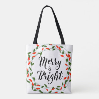 Merry and Bright - Christmas - Totebag Tote Bag