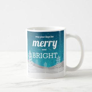 Merry and Bright Christmas Winter Mug