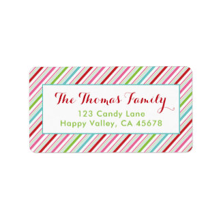 Merry and Bright Holiday Address Labels