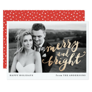 Merry and Bright   Holiday Photo Card