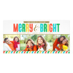 Merry and Bright Holiday Photo Card | Bold Colours