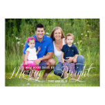 Merry and Bright | Holiday Photo Card 13 Cm X 18 Cm Invitation Card