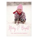 Merry and Bright | Holiday Photo Card Custom Invite