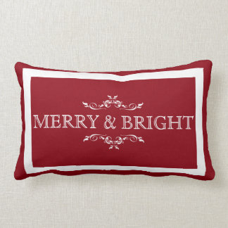 Merry and Bright Holiday Pillow
