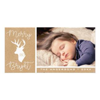 Merry and Bright | Kraft Deer | Rustic Christmas Card