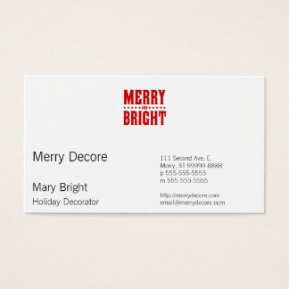 Merry and Bright Letterpress Style No. 507