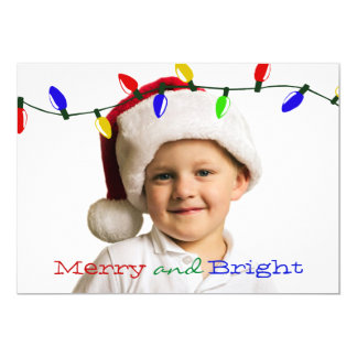 Merry and Bright Lights Holiday Photo Card