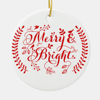 Merry and Bright, Merry Christmas Christmas Ornament