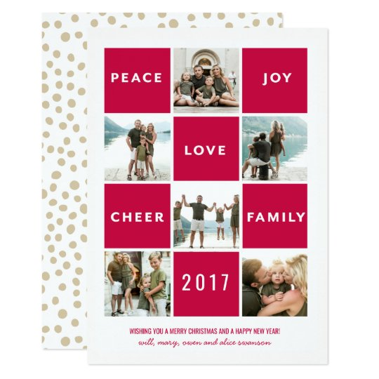 Merry and Bright Multi- PhotoHoliday Card