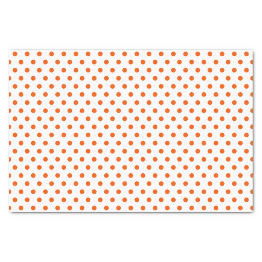 Merry and Bright Orange Polka Dots on White