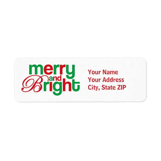 Merry And Bright Personalised