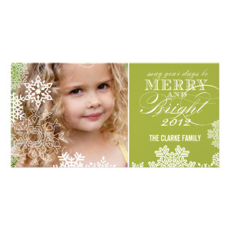 MERRY AND BRIGHT PHOTO CARD | LIGHT GREEN