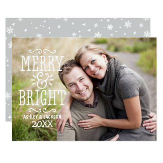 Merry and Bright Photo Card | Overlay Design