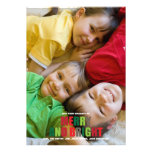 Merry and Bright Photo Christmas Card Personalized Invites