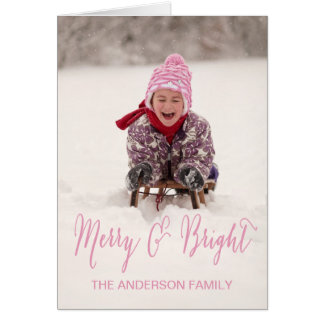 Merry and Bright Photo Holiday Greeting Card