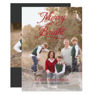 Merry and Bright Script | Photo Holiday Cards