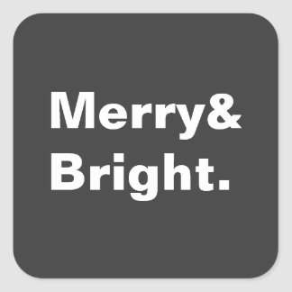 Merry and Bright Square Sticker