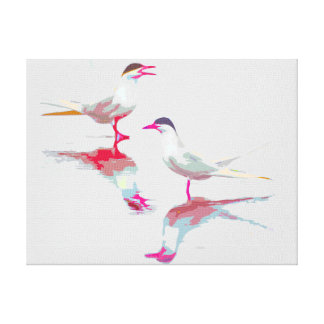 Merry and Bright Terns Stretched Canvas Print