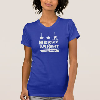 Merry and Bright with Stars T-Shirt