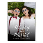 Merry And Married 1st Christmas Holiday Photo Card