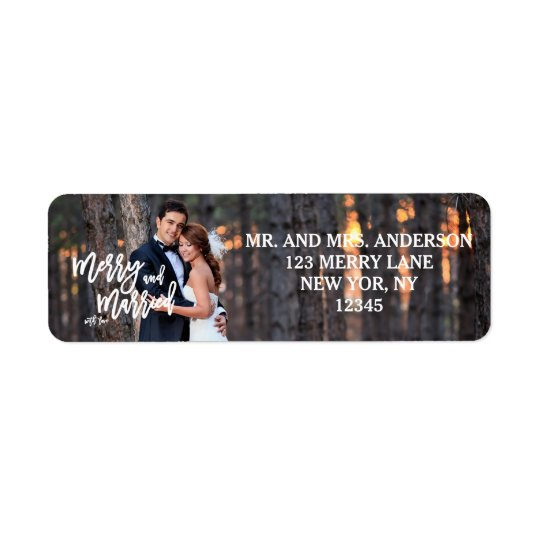 Merry and Married Hand Script | Holiday Photo