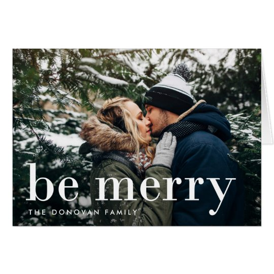 Merry and Modern | Holiday Photo Card