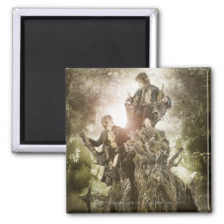 Merry and Peregrin on Treebeard Magnet