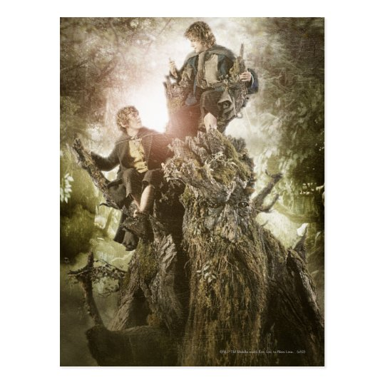 Merry and Peregrin on Treebeard Postcard