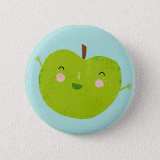merry apple 6 cm round badge