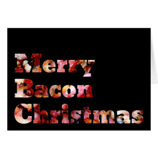 Merry Bacon Christmas Card