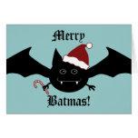 Merry Batmas silly gothic bat