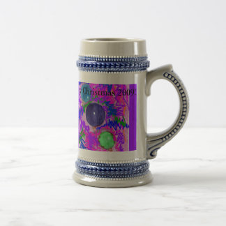 Merry,Beautiful Colorful Christmas stien Beer Steins