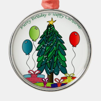 Merry Birthday, Happy Christmas! Christmas Ornament